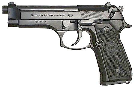 Beretta 92fs 96 model pistols feature open slide design non glare